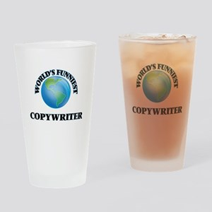 World's Funniest Copywriter Drinking Glass