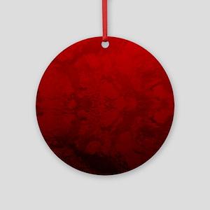 Red Satin Design Ornament (Round)