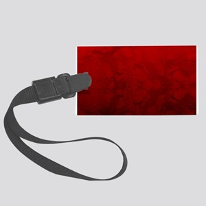 Red Satin Design Large Luggage Tag