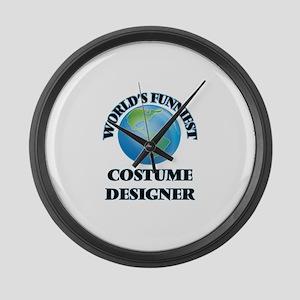 World's Funniest Costume Designer Large Wall Clock