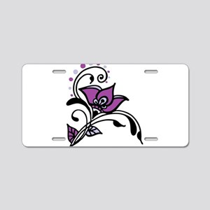 Artsy Awareness Flower Aluminum License Plate