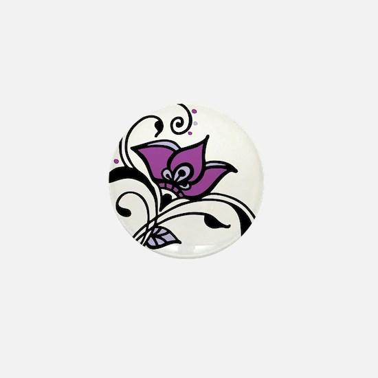 Artsy Awareness Flower Mini Button