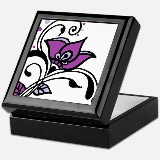 Artsy Awareness Flower Keepsake Box