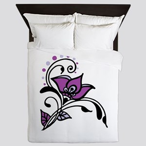 Artsy Awareness Flower Queen Duvet