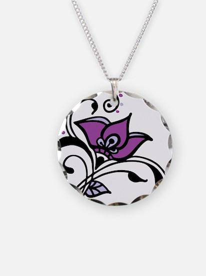 Artsy Awareness Flower Necklace