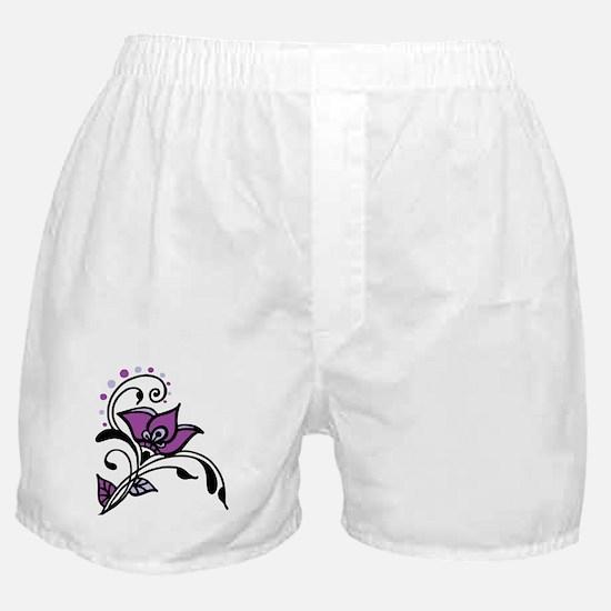 Artsy Awareness Flower Boxer Shorts