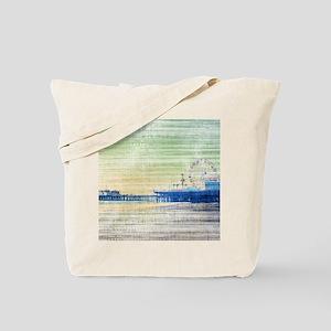 Green Grey Canvas Pier Tote Bag