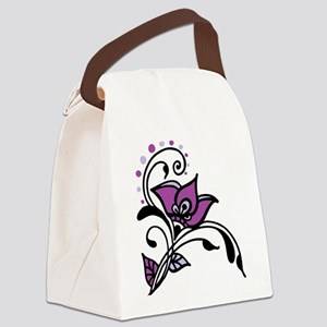 Artsy Awareness Flower Canvas Lunch Bag