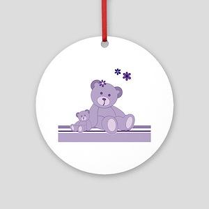 Purple Awareness Bears Ornament (Round)