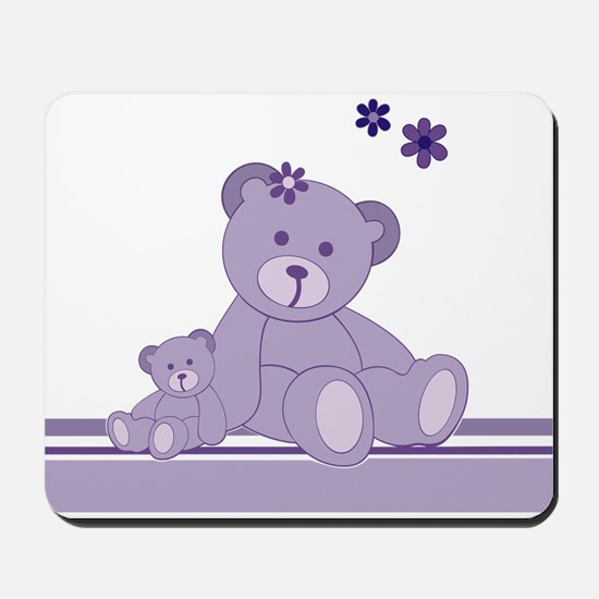 Purple Awareness Bears Mousepad