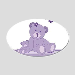 Purple Awareness Bears Wall Decal