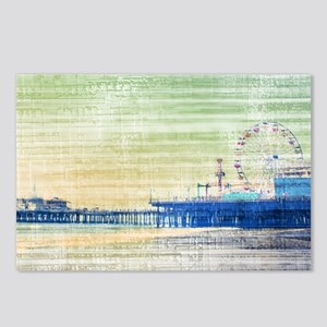 Green Grey Canvas Pier Postcards (Package of 8)