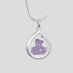Purple Awareness Bears Necklaces