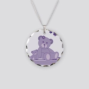 Purple Awareness Bears Necklace