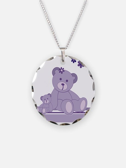 Purple Awareness Bears Necklace