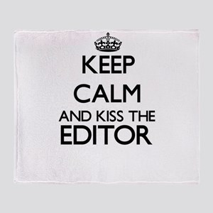 Keep calm and kiss the Editor Throw Blanket