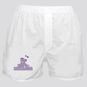Purple Awareness Bears Boxer Shorts