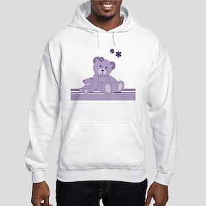 Purple Awareness Bears Hoodie
