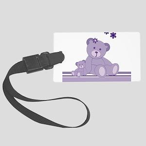 Purple Awareness Bears Luggage Tag