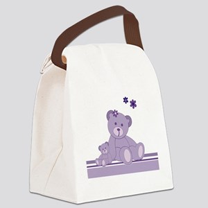 Purple Awareness Bears Canvas Lunch Bag