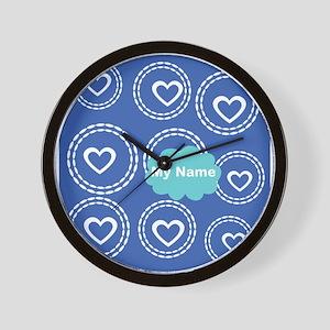 Cool Blue Cloud Wall Clock