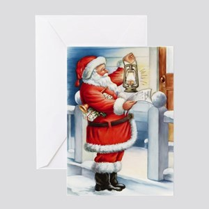 Vintage Santa 3 Greeting Cards