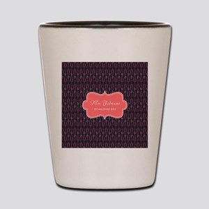Grey Coral Personalized Name Shot Glass