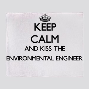 Keep calm and kiss the Environmental Throw Blanket