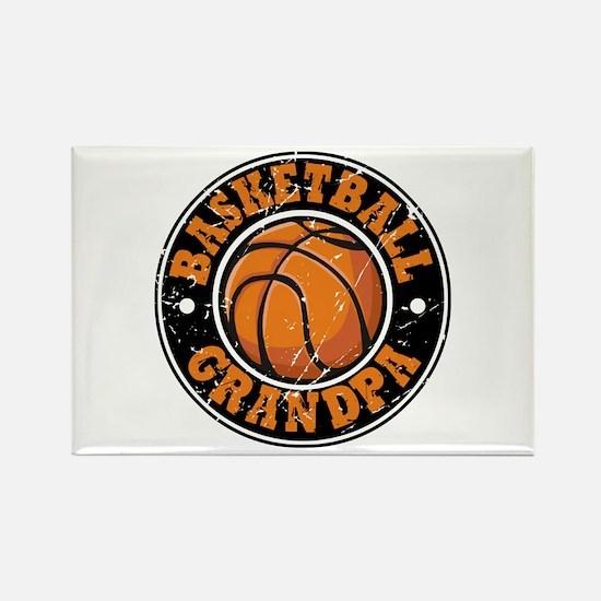 Basketball Grandpa Rectangle Magnet