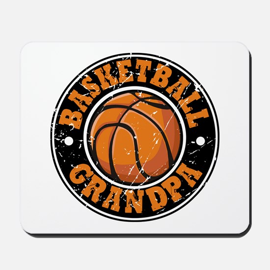 Basketball Grandpa Mousepad