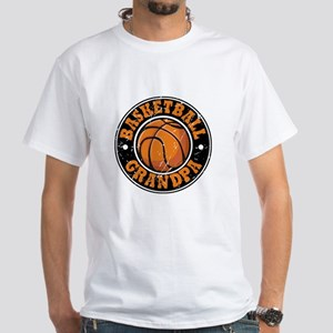 Basketball Grandpa White T-Shirt