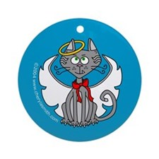 Angel Kitty Ornament (Round)