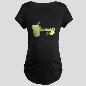 Lemonade Girl Maternity Dark T-Shirt