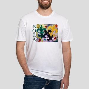 NOLA Mardi Gras Fleur de lis Fitted T-Shirt