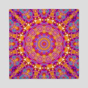 Trippy Hippy | v6 Geometric Mandala Queen Duvet