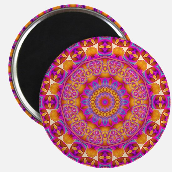 Trippy Hippy   v6 Geometric Mandala Magnets