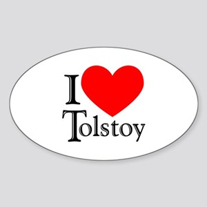 I Love Tolstoy Oval Sticker