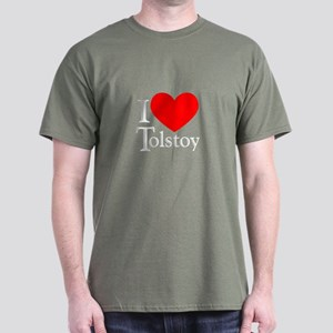 I Love Tolstoy Dark T-Shirt