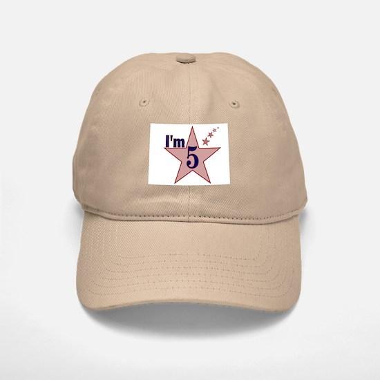 I'm 5 Boys Birthday Baseball Baseball Cap