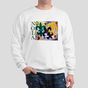 NOLA Mardi Gras Fleur de lis Sweatshirt