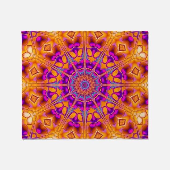 Trippy Hippy | v8 Geometric Mandala Throw Blanket