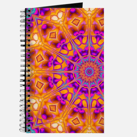 Trippy Hippy   v8 Geometric Mandala Journal