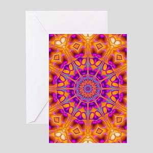 Trippy Hippy   v8 Geometric Mandala Greeting Cards