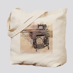 Old time sewing machine Tote Bag