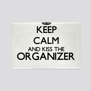 Keep calm and kiss the Organizer Magnets