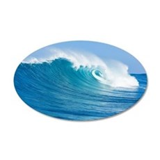 Blue Wave Wall Decal