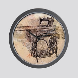 Old time sewing machine Wall Clock