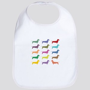 Colorful Dachshunds Bib