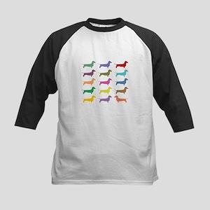 Colorful Dachshunds Baseball Jersey