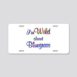 Wild about Bluegrass Aluminum License Plate